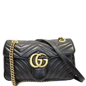 Gucci Marmont Gg Small Matelasse Leather Crossbody